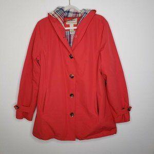 L.L. Bean Easy-Care Mackintosh Coat Jacket Pink